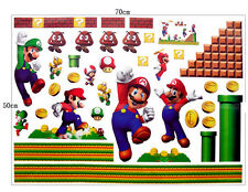 Super Mario Bros New Run Huge Wall Stickers Vinyl Removable Mural Home Decor