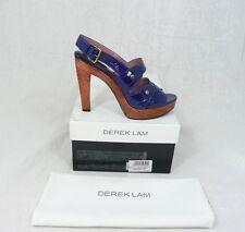 LUXE Derek Lam t 39 vernis plateforme sandales hauts chaussures bleu nouveau prix recommandé 566 €