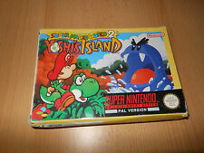 SUPER Nintendo SNES Gioco SUPER MARIO WORLD 2 YOSHI'S ISLAND in scatola completo