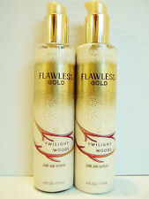 Bath Body Works TWILIGHT WOODS Flawless Gold 24K Silk Lotion, NEW x 2