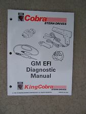 1995 OMC Cobra King Cobra Stern Drive GM EFI Diagnostic Manual HU  ECM Sensors S
