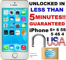 Factory Unlock Service/Code Express Att AT&T iPhone 4 4S 5 5C 5S 6 6+ CLEAN IMEI