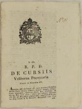 SENTENZA SACRA ROTA VELLETRI LAZIO PAOLO CENSI GIUSEPPE GALEAZZI DEBITO 1834