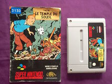 ***SNES GAME SUPER Nintendo TINTIN 2 PRISONERS OF THE SUN + BOOKLET TESTED WORKS