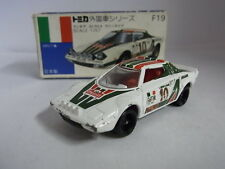 TOMY TOMICA F19 LANCIA STRATOS RALLY ALITALIA 1/57 DIECAST CAR MADE IN JAPAN