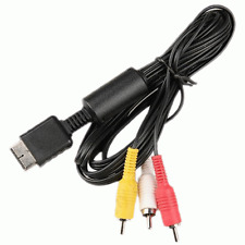 New AV Audio Video Cable For Sony Playstation 2 3 PS2 PS3 Console