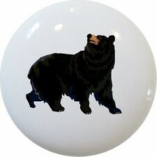 Black BEAR Cabinet Dresser DRAWER Pull KNOB Ceramic