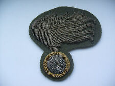 2ww vintage italian police officers silver & gold wire cap patch
