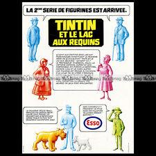 ESSO Station-Service & Figurines TINTIN Hergé Kuifje 1973 Pub Publicité Ad #A824