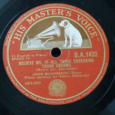 78rpm JOHN McCORMACK believe me all those endearing young charms / o mary dear