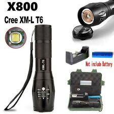 5000LM Tactical Zoomable XML T6 LED Military Flashlight Torch Light Lamp Outdoor