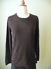 NWT J.CREW COLLECTION CASHMERE LONG-SLEEVE T-SHIRT,  SZ M, BROWN $188,