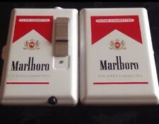 2X MARLBORO Cigarette Lighter Case Box Holder Windproof Dispen New