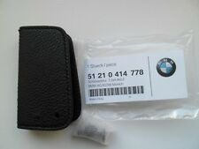 BMW E60 E61 E70 E71 E72 E81 E82 E87 LEATHER CASE KEY FOB COVER HOLDER GENUINE