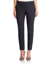 $265 NWT THEORY TESTRA 2B EDITION STRETCH WOOL CROPPED NAVY PANTS SZ 10