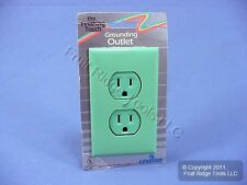 Leviton RETRO Green Straight Blade Duplex Outlet Receptacle 5-15R 15A 25014-GN
