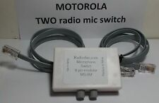 Motorola MICROPHONE Switch TWO Radios or 2 Mic 8 Pin flat CDM GM300 Maxtrac, etc