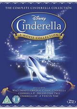 CINDERELLA TRILOGY BLU RAY BOX SET COLLECTION PART 1 2 3 WALT DISNEY ORIGIN