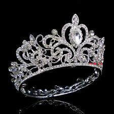 5.5cm High Full Crystal Luxury Wedding Bridal Party Pageant Prom Tiara Crown