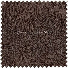 Brown Faux Leather / Leathertte / Faux Suede / Snake Upholstery Fabric Material