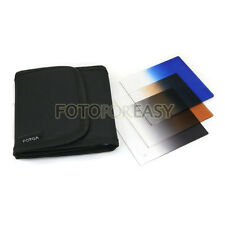 3pcs Gradual Graduated Blue Grey Brown Color Filter Kit Set for Cokin P Series