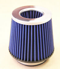 4.0' Universal High Flow DRY Cone Air Intake Turbo Filter Clean Washable Blue