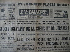 SKI JERNBERG JEUX OLYMPIQUES SQUAW VALLEY FOOT REIMS NIMES JOURNAL L'EQUIPE 1960
