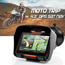 "4.3"" Motorcycle Sat Nav 8GB 256M Waterproof Bluetooth Biker GPS Navigator + Maps"