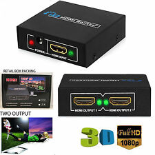 1 INPUT 2 OUTPUT HDMI SPLITTER 2 WAY SWITCH BOX Hub SUPPORT FULL HD 3D 4K