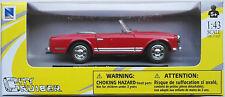NEWRAY - 1968 Mercedes-Benz 280sl ROADSTER ROSSO 1:43 Nuovo/Scatola Originale modello di auto