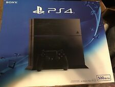 New Sony PlayStation 4 PS4 500GB Matte Black Console CUH-1215A System