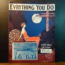 Vintage Jazz Sheet Music '24 EV'RYTHING YOU DO Hirsch/Olman PAUL WHITEMAN BAND