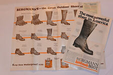 2 VINTAGE 1926 BERGMANN HAND-MADE BOOTS ADVERTISING POSTERS! PICTURES & PRICES!