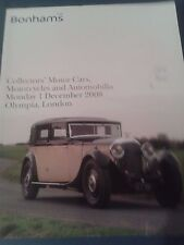 Bonhams Auction Catalogue 2008.Motor Cars Motorcycles and Automobilia.