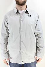 New FOURSQUARE Mens Station Button Snap Jacket Large L Granite Gray DR1