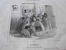 Litho 19ème Théatre Mlle Déjazet dans la lizette de Béranger