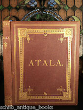 1884 Atala by Chateaubriand Gustave DORE Plates Native American Indians FOLIO