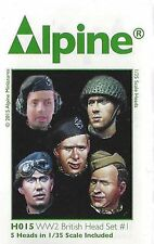 Alpine Miniatures 1/35th Scale WW2 British Head Set #1 Item No. H015