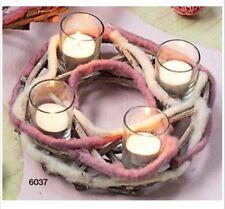 """Hoff Interieur 6037 Leuchterkranz """"Maison"""" Teelichthalter Weihnachten Weide Filz"""