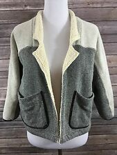 Saturday Sunday Anthropologie Women's Sherpa Lined Jacket Size XS