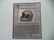 advertising Pubblicità 1976 CASCO HELMET AGV X-15 JOHNNY