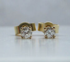 Brand New 1/10 Tenth of a carat .10ct Diamond 9ct Yellow Gold Stud Earrings