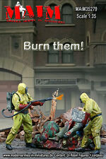 1/35 Scale Resin kit Burn them - Set with 3 Figures – Zombie Wars -