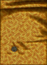 Paint Brush Blotted Print drk gold on med gold Fabric - Note Description for yds