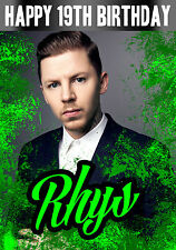 Personalised Professor Green/ Pro Green - Birthday Greeting Card A5
