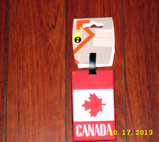 EZ TRAVEL Canada Flag Luggage Tag WITH SECURITY ID NEW NEVER USED