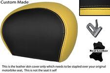 BLACK & CREAM CUSTOM FITS PIAGGIO VESPA 125 250 300 GTS LEATHER BACKREST COVER
