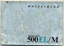 Hasselblad 500EL/M Camera Instruction Book. More Genuine Manuals Listed