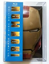 IRON MAN ULTIMATE 2 DISC EDITION BLU RAY MASK CASE RARE OOP FREE SHIPPING WORLD