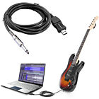 Guitar Bass 6.5mm To USB Link Connection Instrument Cable adapter (PC Recording)